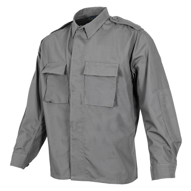 Propper Poly / Cotton Ripstop LS 2-Pocket BDU Shirts Gray