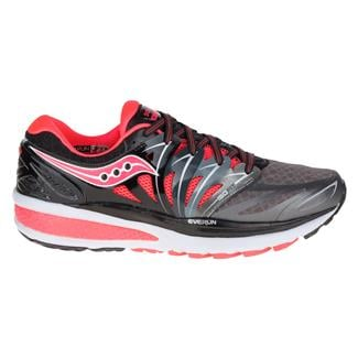 Saucony Hurricane Iso 2 Black / Charcoal / Coral
