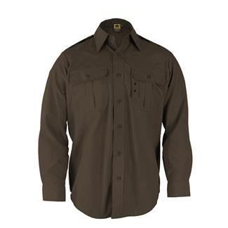 Propper Long Sleeve Tactical Dress Shirts Sheriff's Brown