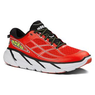 Hoka One One Clifton 2 Poppy Red / White
