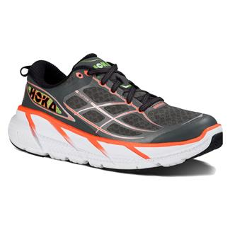 Hoka One One Clifton 2 Gray / Neon Coral