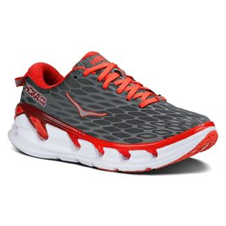 Hoka One One Vanquish 2 Gray / Poppy Red