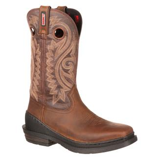 "Rocky 12"" OutRidge One-Ton Square Toe Brown"