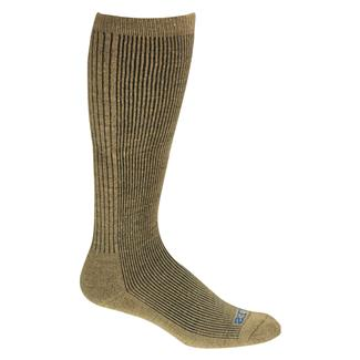 Bates All Climate Lightweight Over The Calf Socks - 4 Pair Army Brown