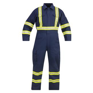Propper Reflective Nylon / Cotton FR Coveralls Navy