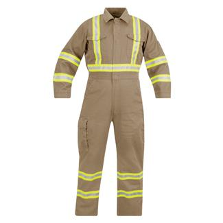 Propper Reflective 100% Cotton FR Coveralls Khaki