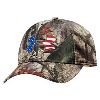 Under Armour Big Flag Logo Camo Cap Mossy Oak Treestand