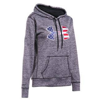 Under Armour ColdGear Big Flag Logo Hoodie Black / White