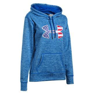 Under Armour ColdGear Big Flag Logo Hoodie Ultra Blue / White