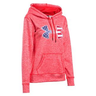 Under Armour ColdGear Big Flag Logo Hoodie Rocket Red / White
