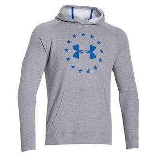 Under Armour ColdGear Freedom Hoodie True Gray Heather / Ultra Blue