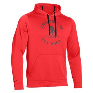 Under Armour ColdGear Property of WWP Hoodie Rocket Red / Black