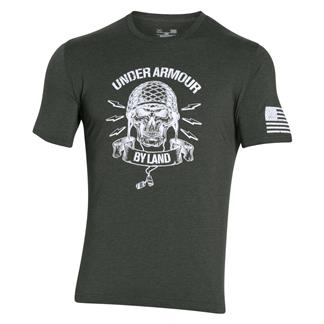 Under Armour Freedom Army T-Shirt Combat Green / White