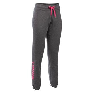 Under Armour Freedom Fleece Pants Carbon Heather / Harmony Red