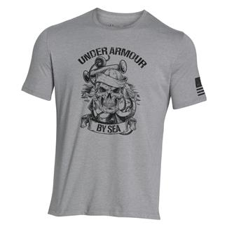 Under Armour Freedom Navy T-Shirt True Gray Heather / Black