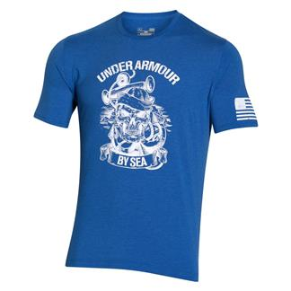 Under Armour Freedom Navy T-Shirt Ultra Blue / White