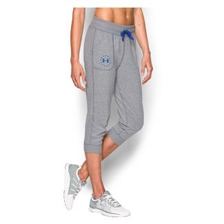 Under Armour Freedom Tri-blend Capri Pants True Gray Heather / Ultra Blue
