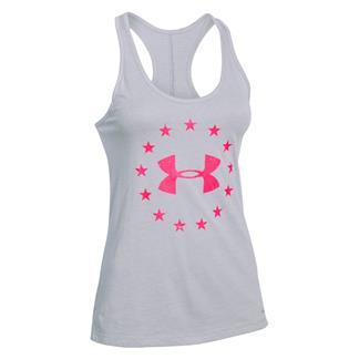 Under Armour Freedom Tri-Blend Racerback Shirt True Gray Heather / Harmony Red