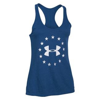 Under Armour Freedom Tri-Blend Racerback Shirt American Blue / White