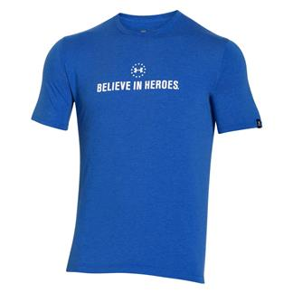 Under Armour HeatGear Believe in Heroes T-Shirt Ultra Blue / White