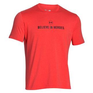 Under Armour HeatGear Believe in Heroes T-Shirt Rocket Red / Black