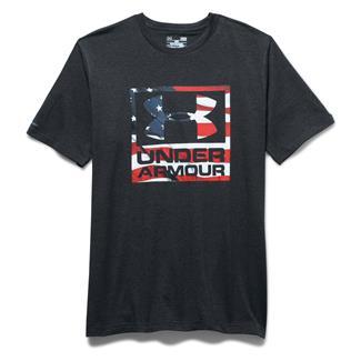 Under Armour HeatGear Big Flag Logo T-Shirt Black / White