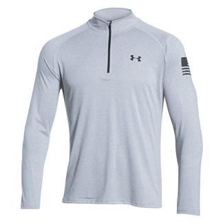 Under Armour HeatGear Freedom Tech 1/4 Zip Jacket True Gray Heather / Black