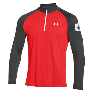 Under Armour HeatGear Freedom Tech 1/4 Zip Jacket Rocket Red / White