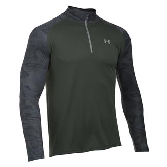 Under Armour HeatGear Freedom Tech 1/4 Zip Jacket Combat Green / Storm