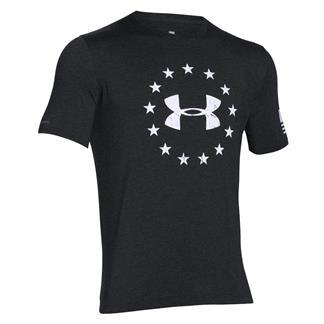 Under Armour HeatGear Freedom T-Shirt Black / White