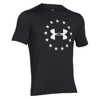 Under Armour HeatGear Freedom T-Shirt Black / White