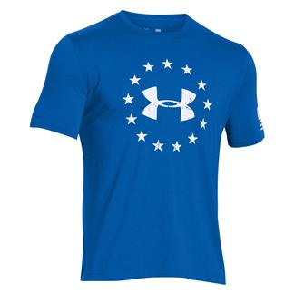 Under Armour HeatGear Freedom T-Shirt Ultra Blue / White