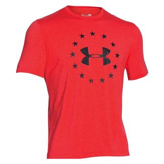 Under Armour HeatGear Freedom T-Shirt Rocket Red / Black