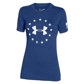 Under Armour HeatGear Freedom T-Shirt American Blue / White