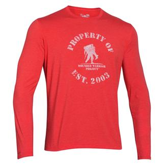 Under Armour HeatGear Long Sleeve Property of WWP T-Shirt Rocket Red / White