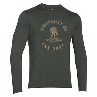 Under Armour HeatGear Long Sleeve Property of WWP T-Shirt Combat Green / Enamel