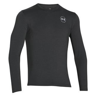 Under Armour HeatGear Long Sleeve WWP Freedom Flag T-Shirt Carbon Heather / White