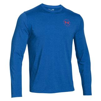 Under Armour HeatGear Long Sleeve WWP Freedom Flag T-Shirt Ultra Blue / Rocket Red