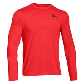 Under Armour HeatGear Long Sleeve WWP Freedom Flag T-Shirt Rocket Red / Black