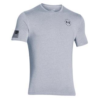 Under Armour HeatGear WWP Freedom Flag T-Shirt True Gray Heather / Black