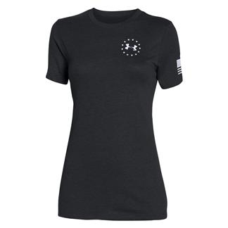 Under Armour HeatGear WWP Freedom Flag T-Shirt Black / White