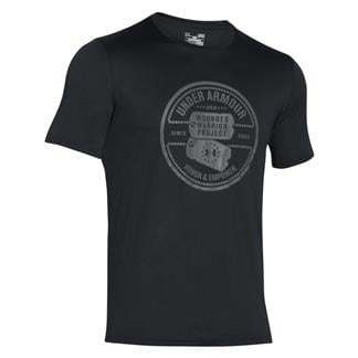 Under Armour WWP Dog Tag Tech T-Shirt Black / Graphite