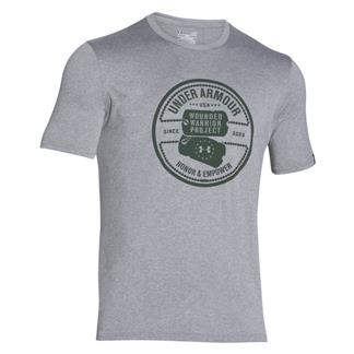 Under Armour WWP Dog Tag Tech T-Shirt True Gray Heather / Combat Green