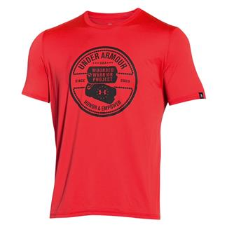 Under Armour WWP Dog Tag Tech T-Shirt Rocket Red / Black