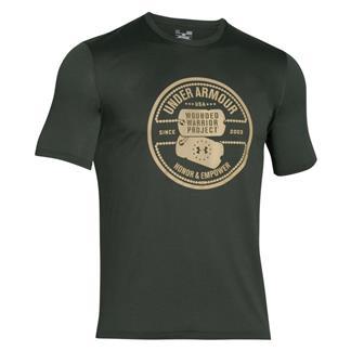 Under Armour WWP Dog Tag Tech T-Shirt Combat Green / Enamel