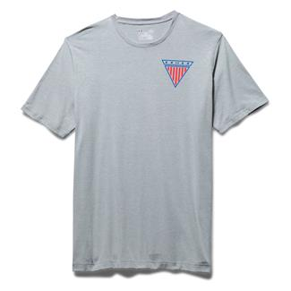 Under Armour WWP Proud American T-Shirt True Gray Heather / Rocket Red
