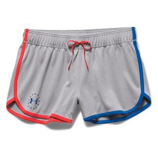 Under Armour HeatGear Freedom ArmourVent Shorts True Gray Heather / Rocket Red / Ultra Blue