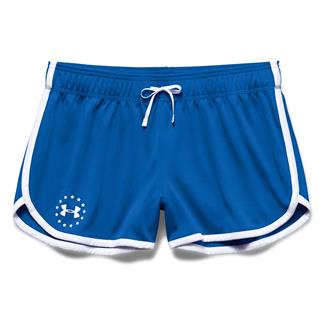 Under Armour HeatGear Freedom ArmourVent Shorts Ultra Blue / White