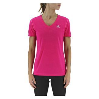 Adidas Ultimate V-Neck T-Shirt Shock Pink
