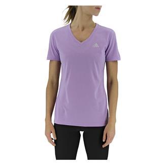 Adidas Ultimate V-Neck T-Shirt Purple Glow
